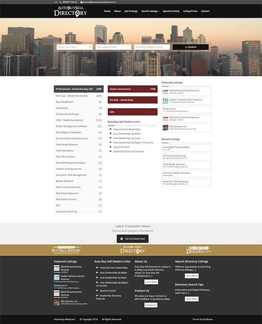 Auto Buy Sell Directory Home Page