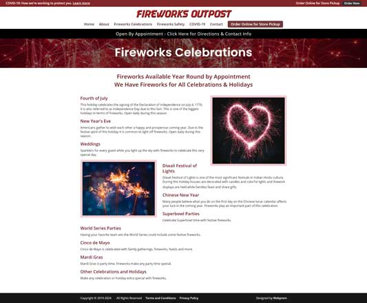 Fireworks Outpost Firework Celebrations