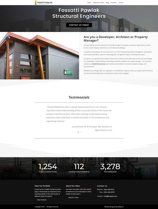 Fossatti Pawlak Seattle Structural Engineers Home Page