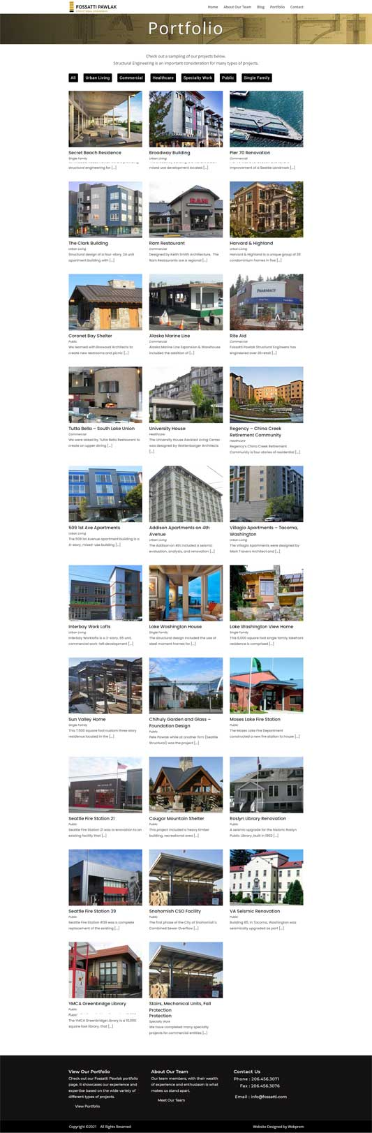 Fossatti Pawlak Seattle Structural Engineers Portfolio