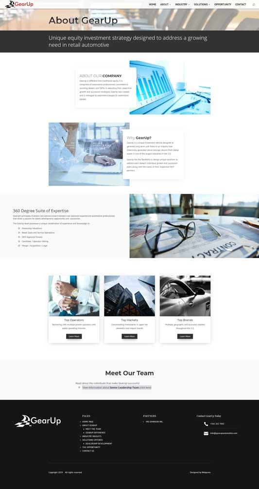 GearUp Automotive About Page