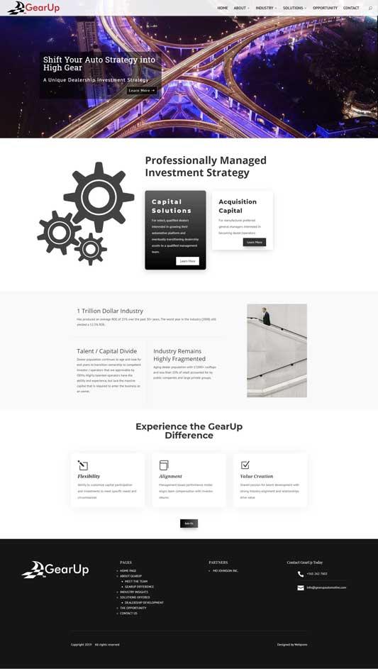 GearUp Automotive Home Page