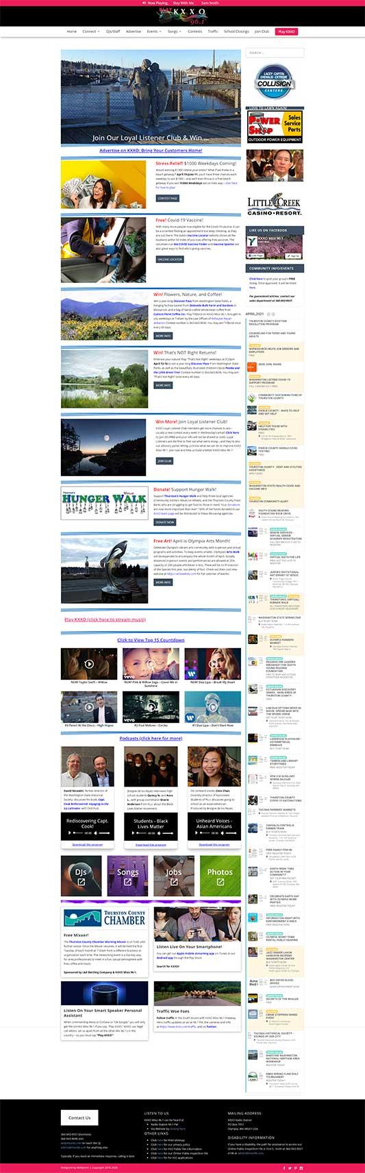 KXXO Mixx 96.1 Radio Home Page