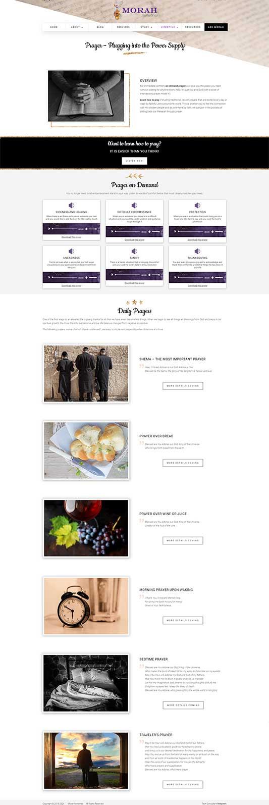 Morah Ministries Prayer Page