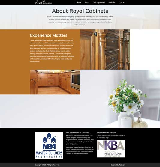 Royal Cabinets About Page