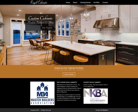 Royal Cabinets Home Page